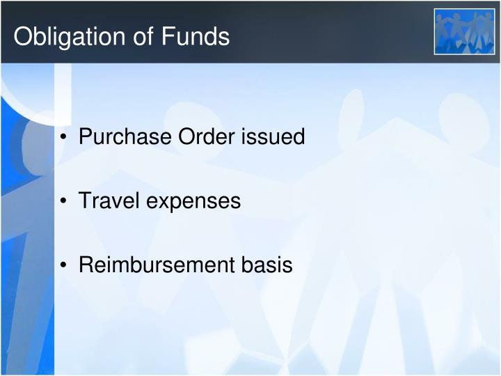Obligation of Funds