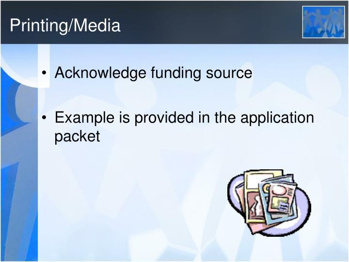 Printing/Media