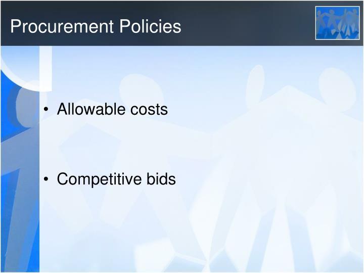 Procurement Policies