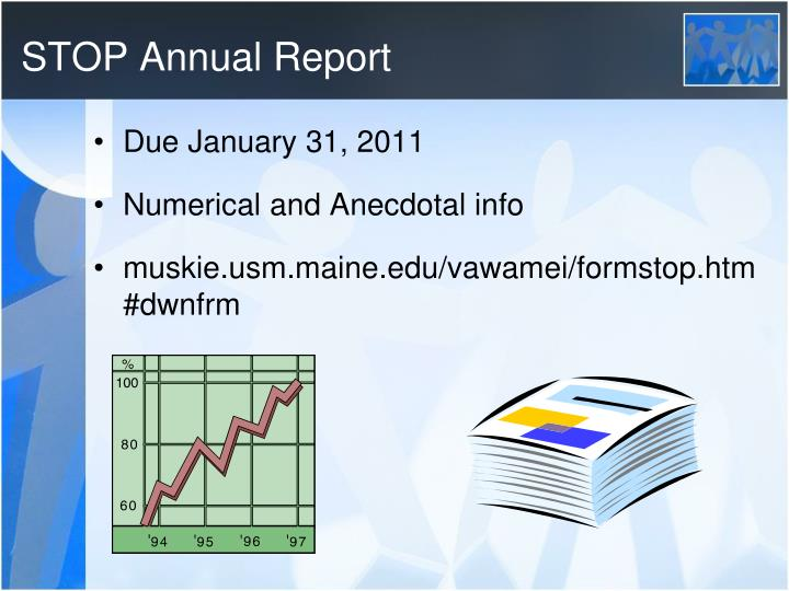 STOP Annual Report