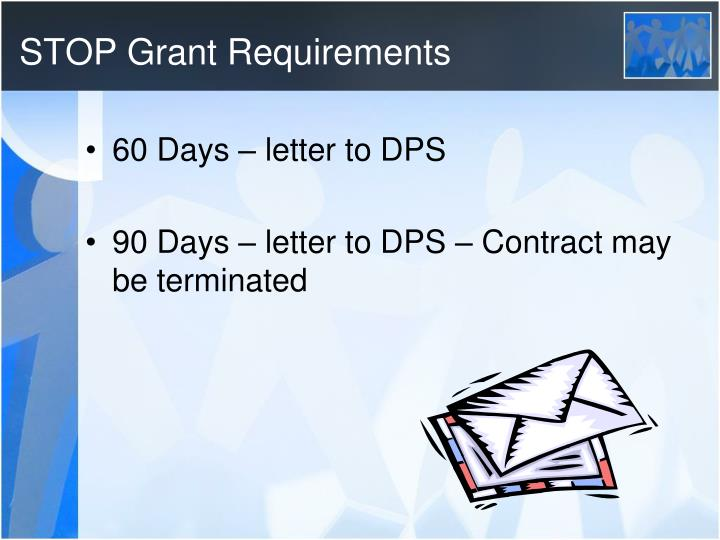 STOP Grant Requirements