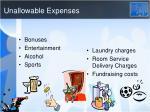 unallowable expenses