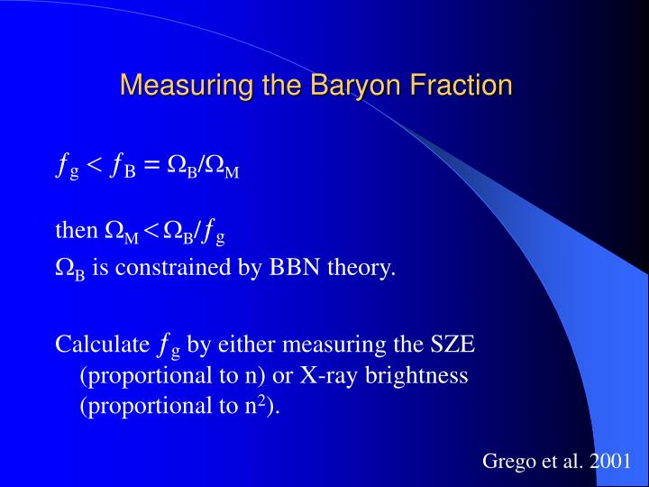 Measuring the Baryon Fraction