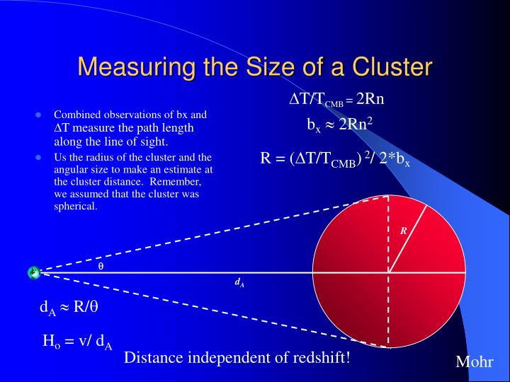 Measuring the Size of a Cluster