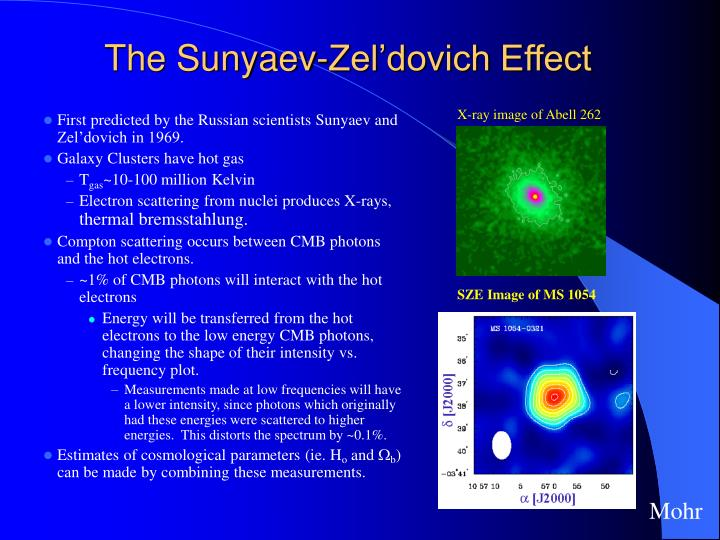 The sunyaev zel dovich effect