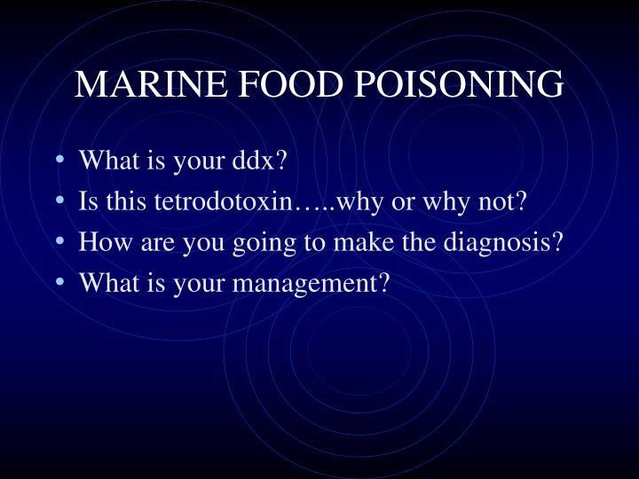 MARINE FOOD POISONING