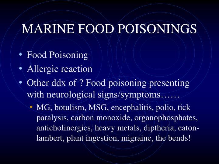 MARINE FOOD POISONINGS