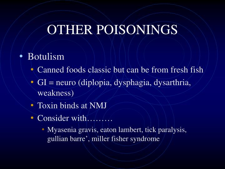 OTHER POISONINGS
