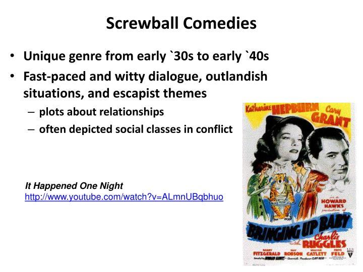 Screwball Comedies