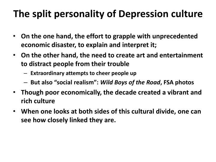 the split personality of depression culture