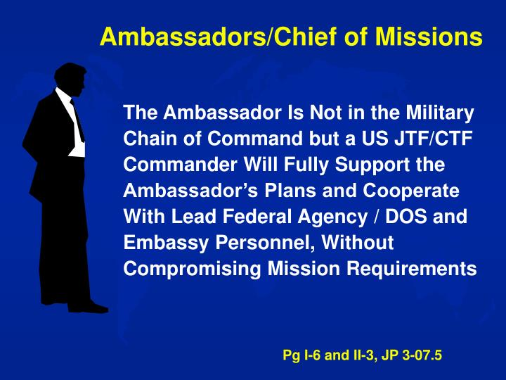 Ambassadors/Chief of Missions