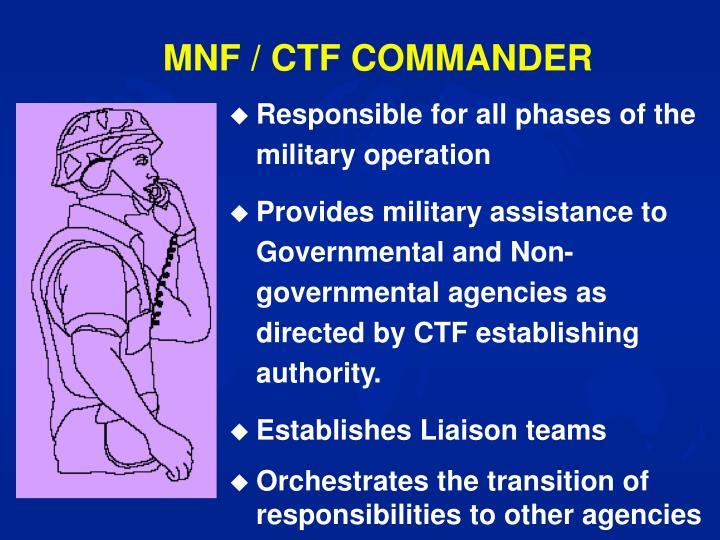 MNF / CTF COMMANDER