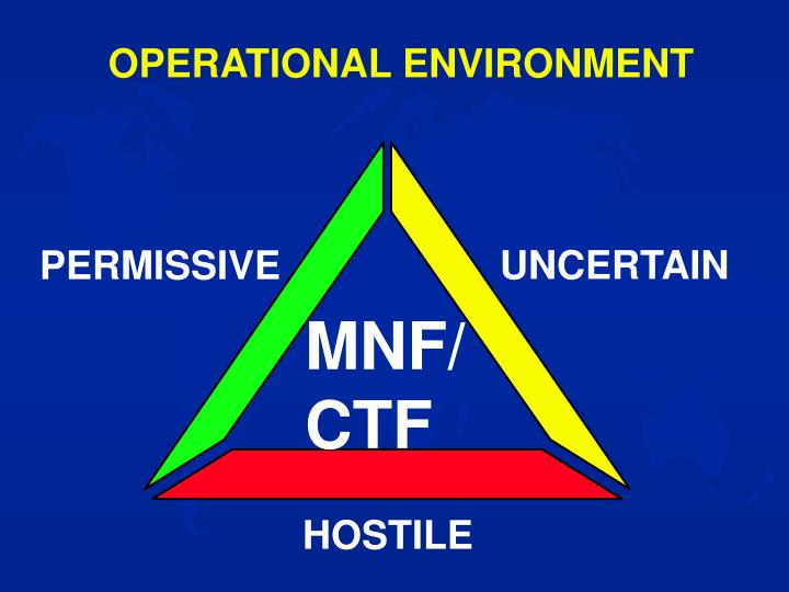 OPERATIONAL ENVIRONMENT