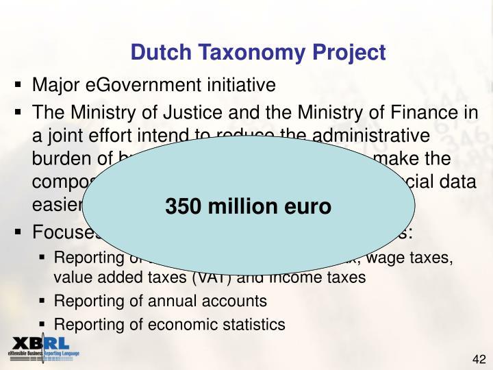 Dutch Taxonomy Project