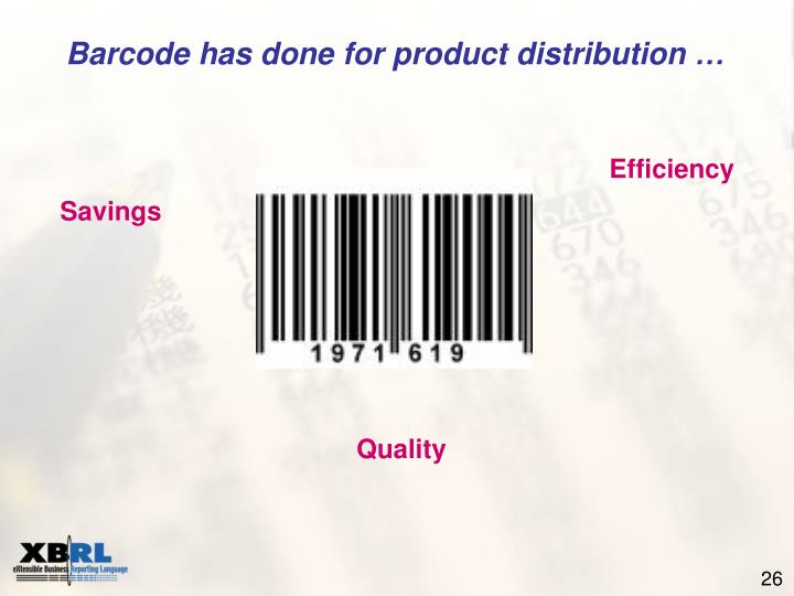 Barcode has done for product distribution …