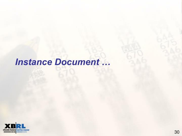 Instance Document …