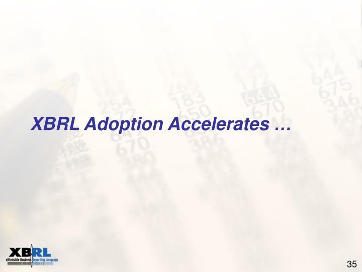 XBRL Adoption Accelerates …