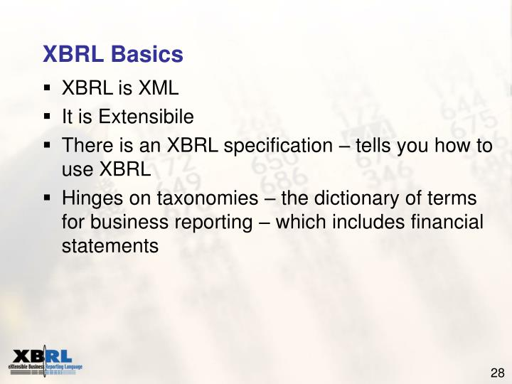 XBRL Basics