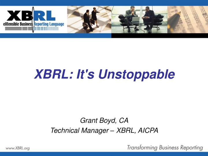 XBRL: It's Unstoppable