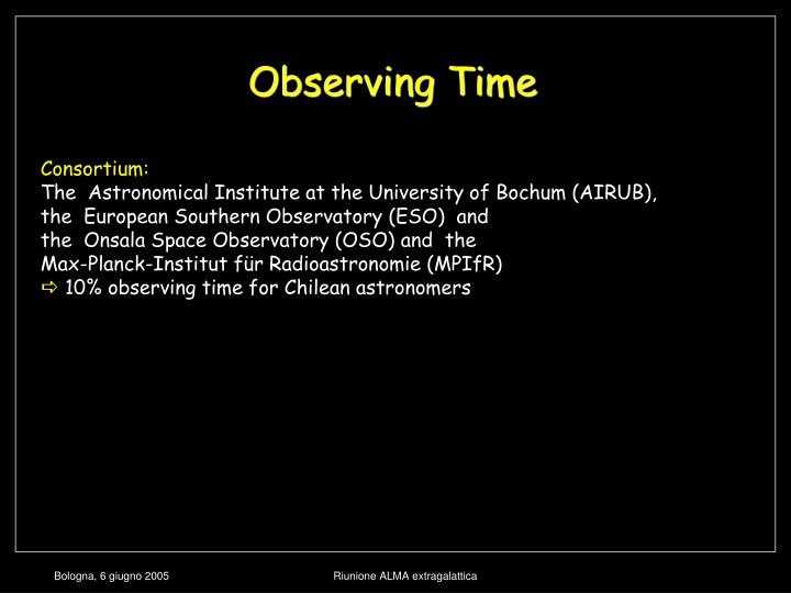 Observing Time