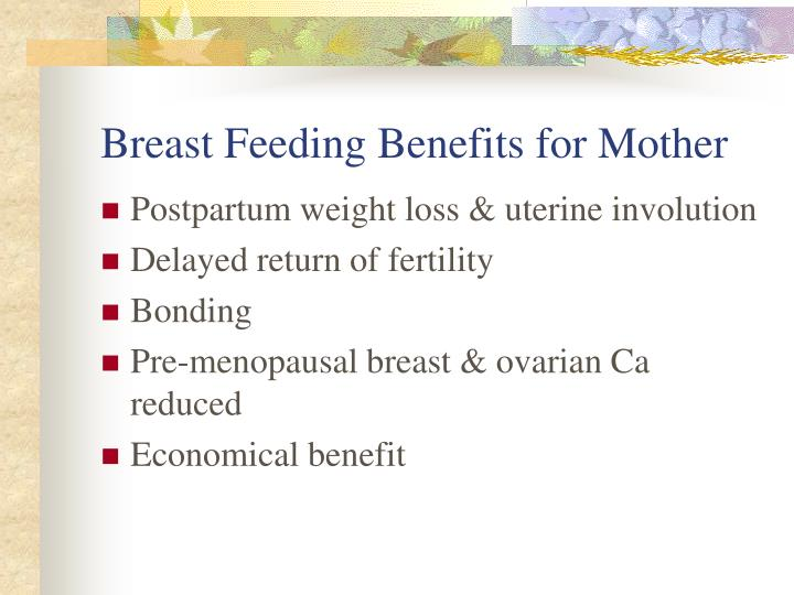 Breast Feeding Benefits for Mother