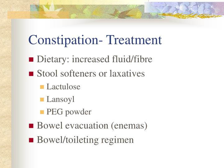 Constipation- Treatment