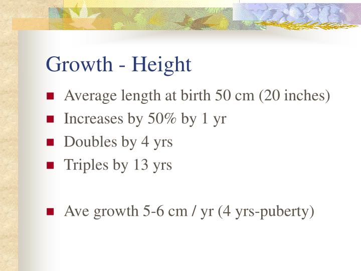 Growth - Height