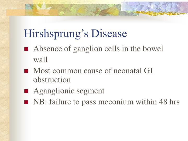 Hirshsprung's Disease