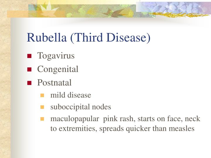 Rubella (Third Disease)
