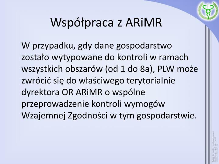 Współpraca z ARiMR