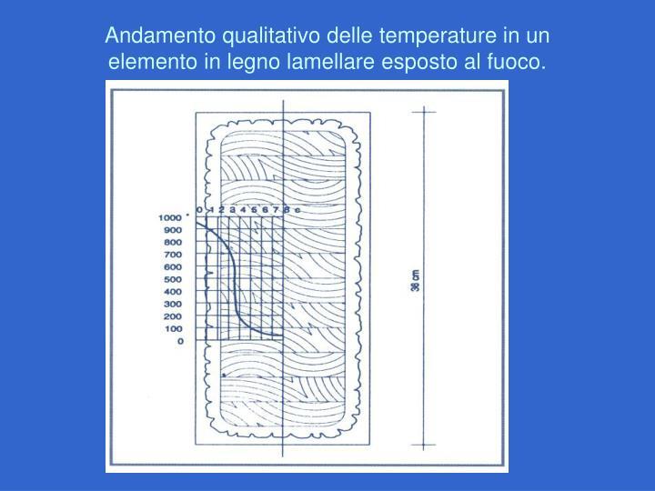 Andamento qualitativo delle temperature in un