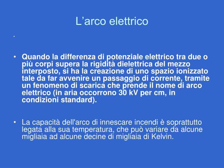 L'arco elettrico