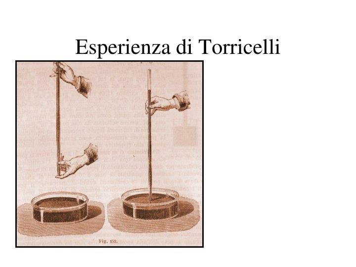 Esperienza di Torricelli