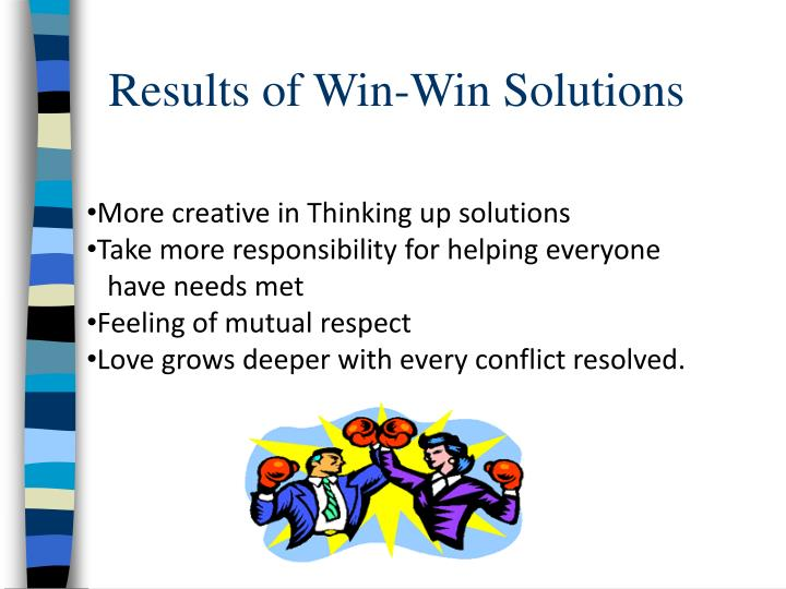 Results of Win-Win Solutions