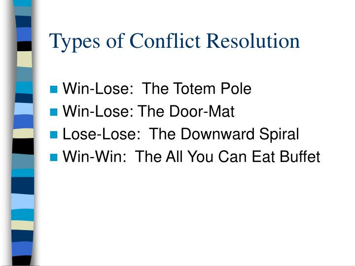 Types of Conflict Resolution