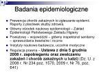 badania epidemiologiczne