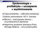 epidemiologia profilaktyka szczepienie wyeliminowanie