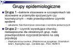 grupy epidemiologiczne