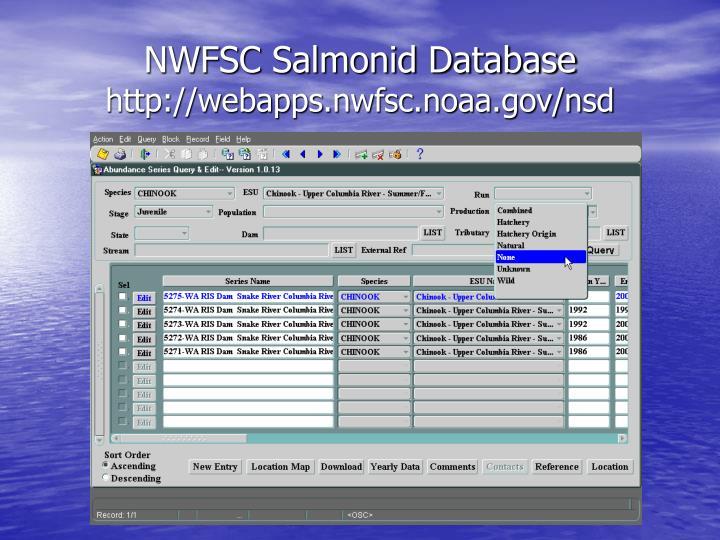 NWFSC Salmonid Database