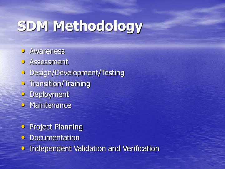 SDM Methodology