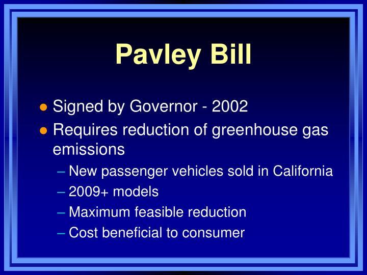 Pavley Bill