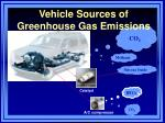 vehicle sources of greenhouse gas emissions
