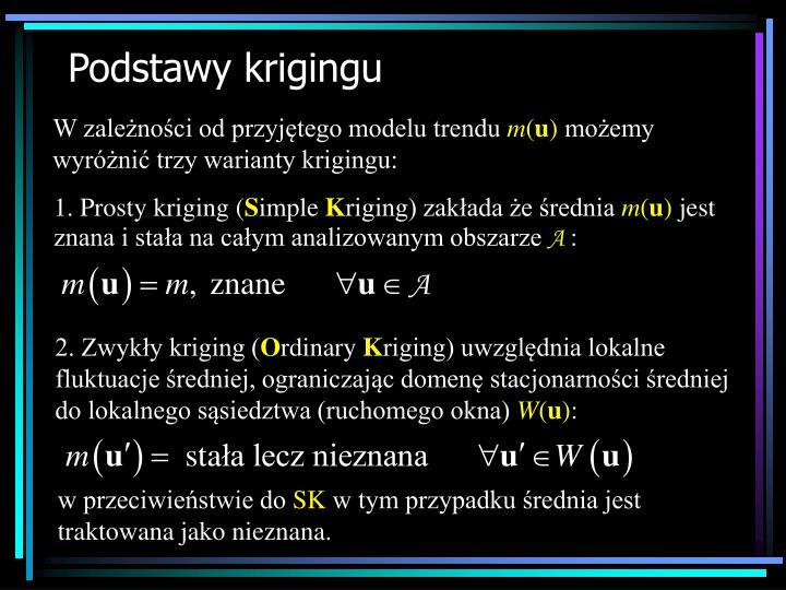 1. Prosty kriging (