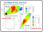 ice maps of co 2 and h 2 o