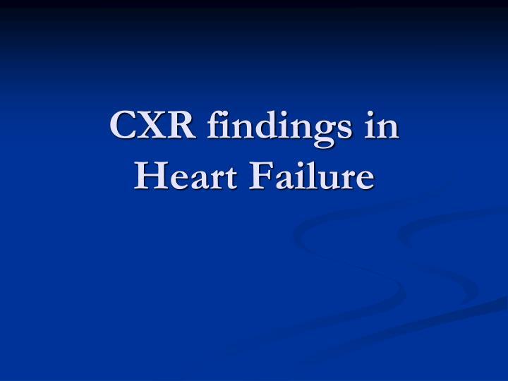 CXR findings in