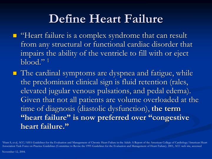 Define Heart Failure