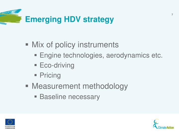 Emerging HDV strategy
