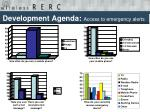 development agenda access to emergency alerts