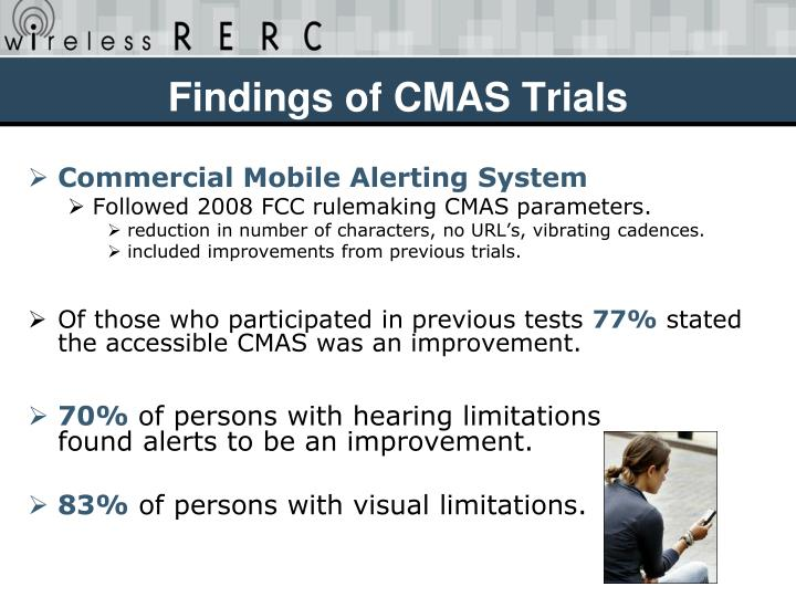 Findings of CMAS Trials