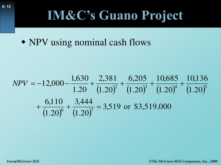 IM&C's Guano Project